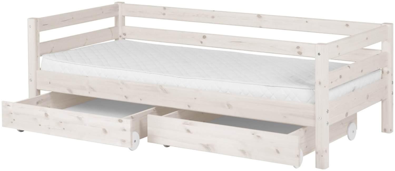 Flexa 'Classic' Einzelbett weiß, 90x190 cm, inkl. 2 Schubladen Bild 1