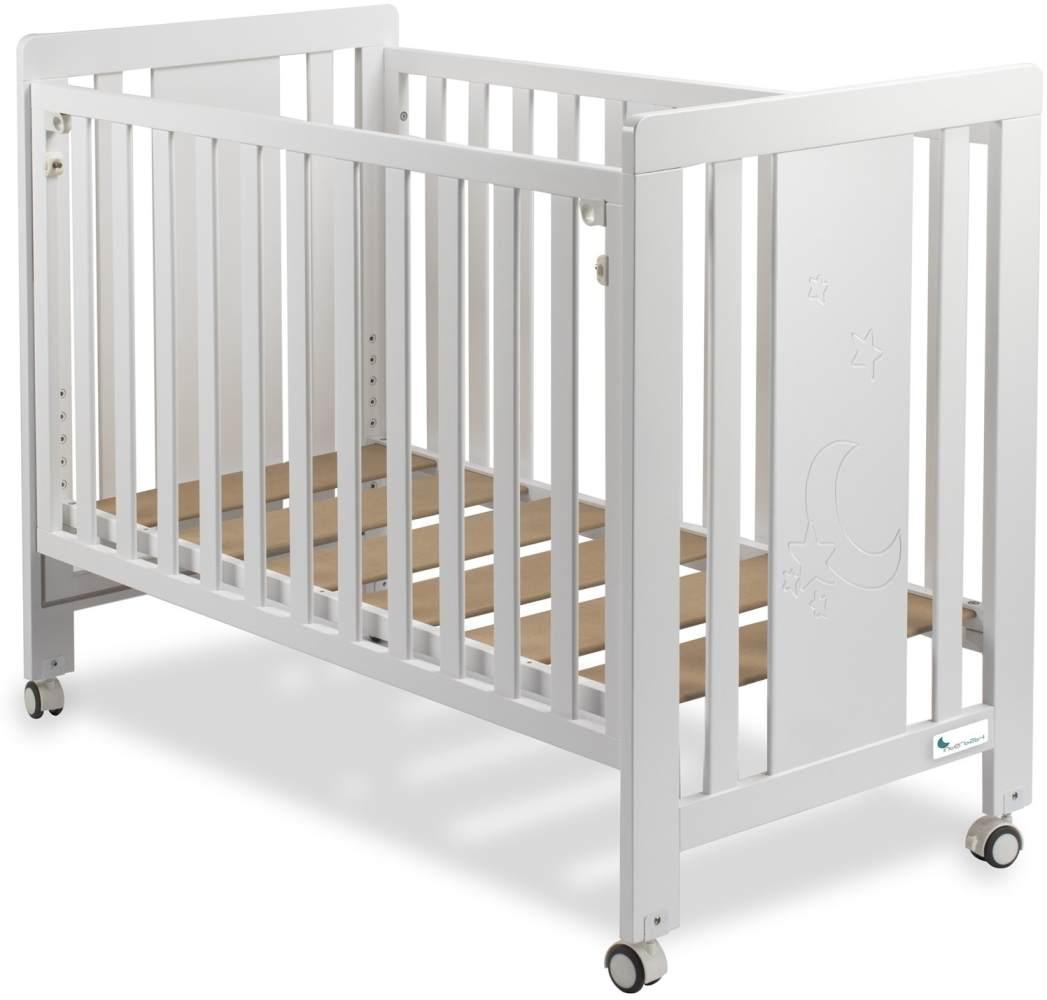 Premium Beistellbett Kinderbett 'Dream Plus Maxi' 60x120 cm weiß lackiert Bild 1