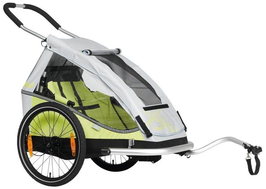 XLC 'Mono8teen' Fahrradanhänger 2018, limone, 1 -Sitzer Bild 1