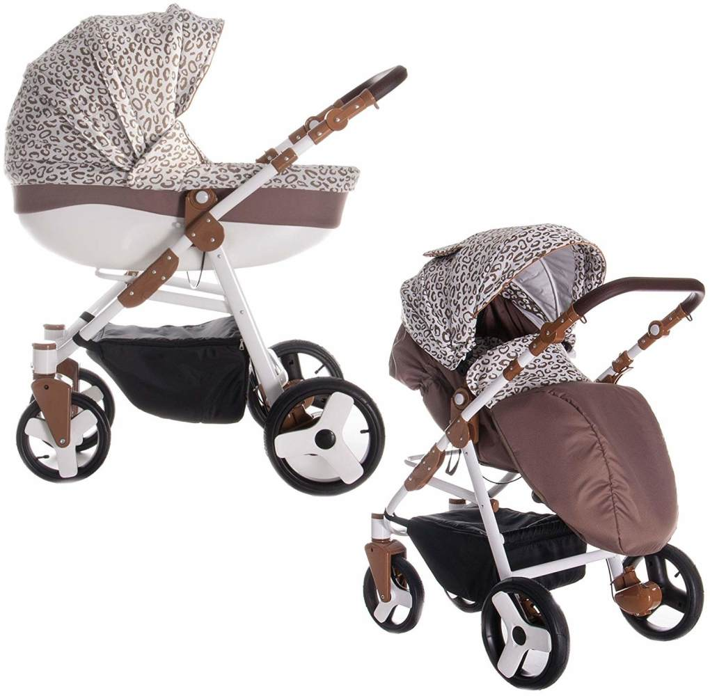 Friedrich Hugo Easy Comfort | 2 in 1 Kombi Kinderwagen | Farbe: Gold & Leo Fabric Bild 1