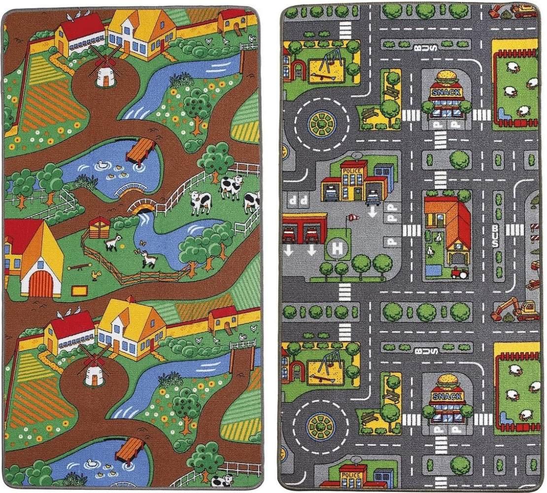Small Foot by Legler Spielteppich 2-in-1 100x165 cm – Kinderspielzeug – Teppich fürs Kinderzimmer Bild 1