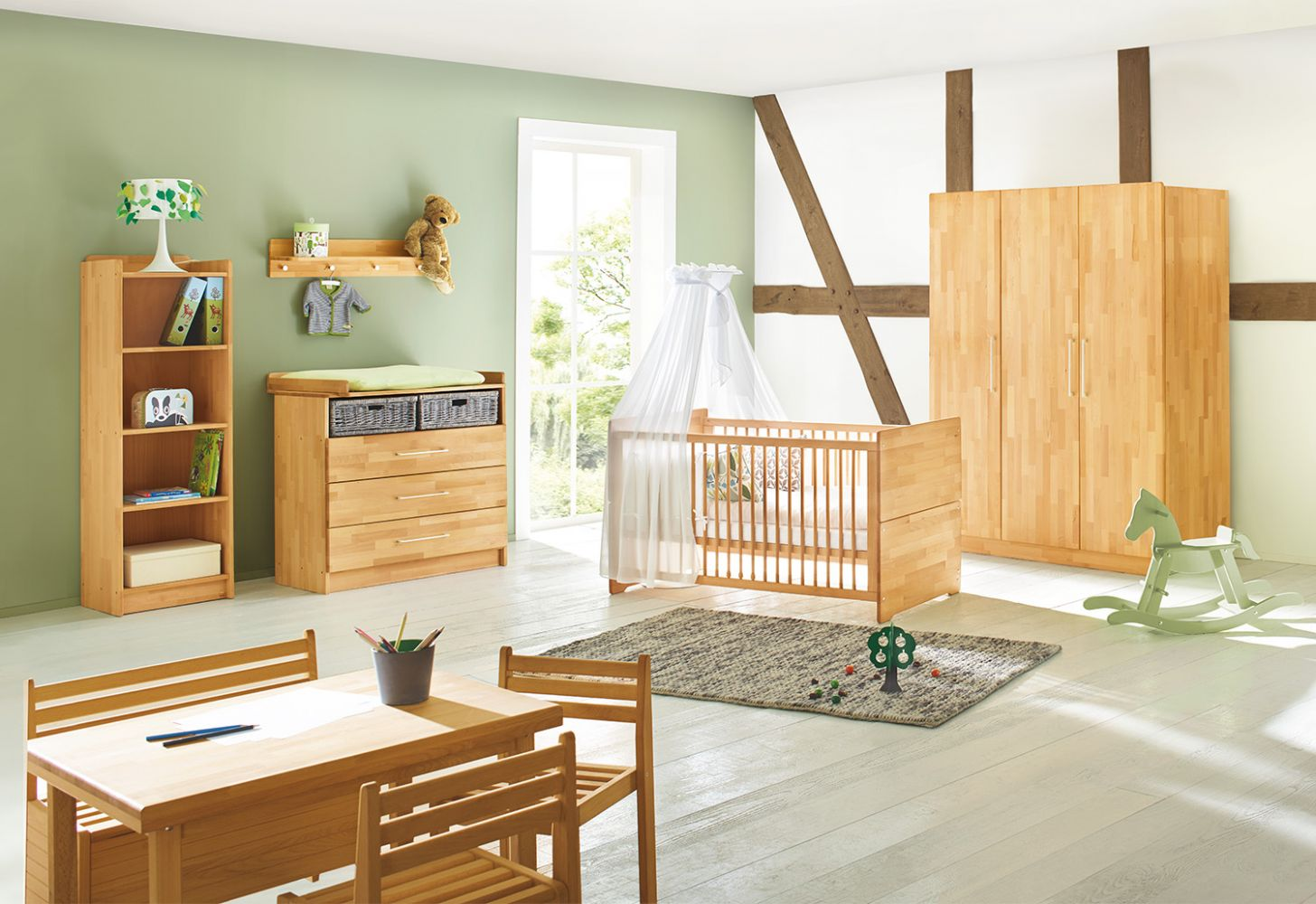 Pinolino 'Natura' 3-tlg. Babyzimmer-Set natur, 3-türig Bild 1