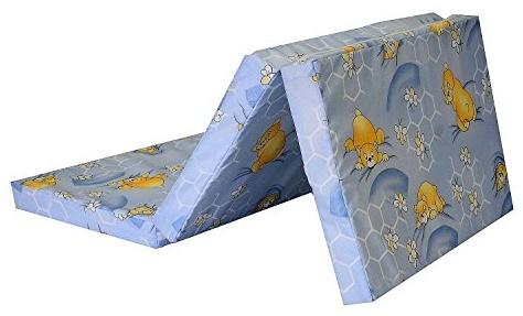 Best For Kids Reisebettmatratze inkl.Transporttasche 60 x 120 cm hellblau Bild 1