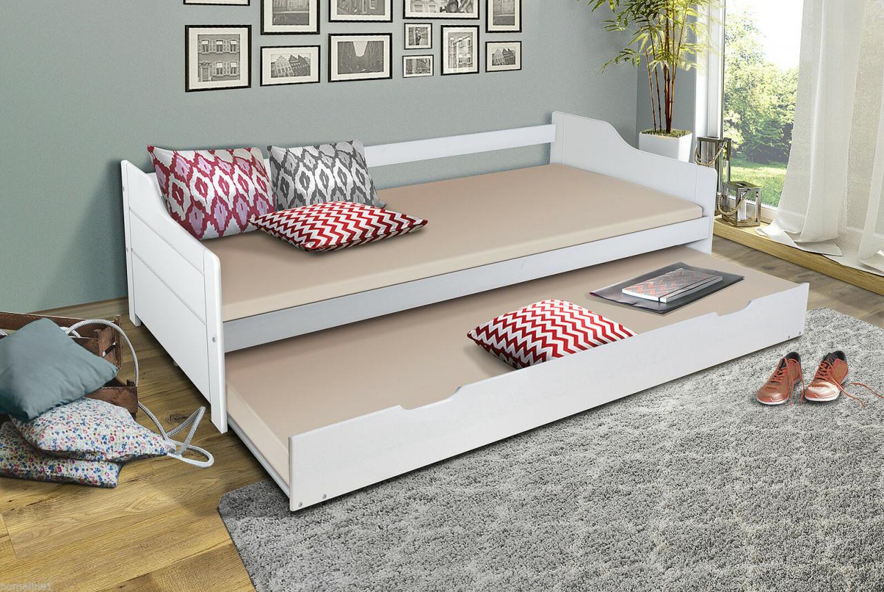 Parisot Einzelbett weiß, 90 x 200 cm, inkl. Bettkastenschublade Bild 1