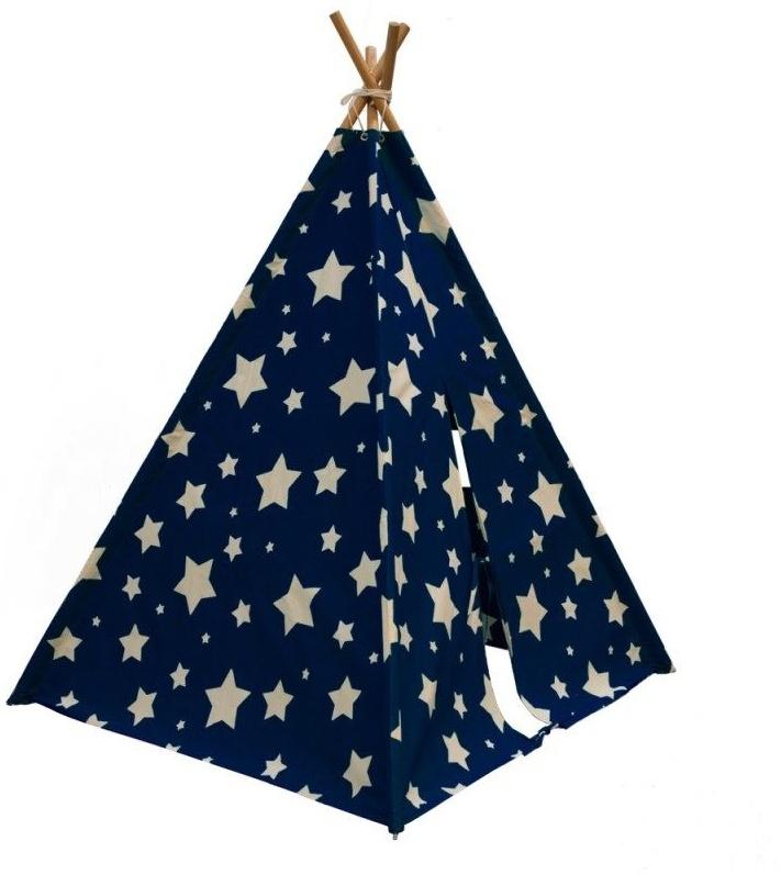 Kinderzelt Cosmo mit nachtleuchtenden Sternen Bild 1