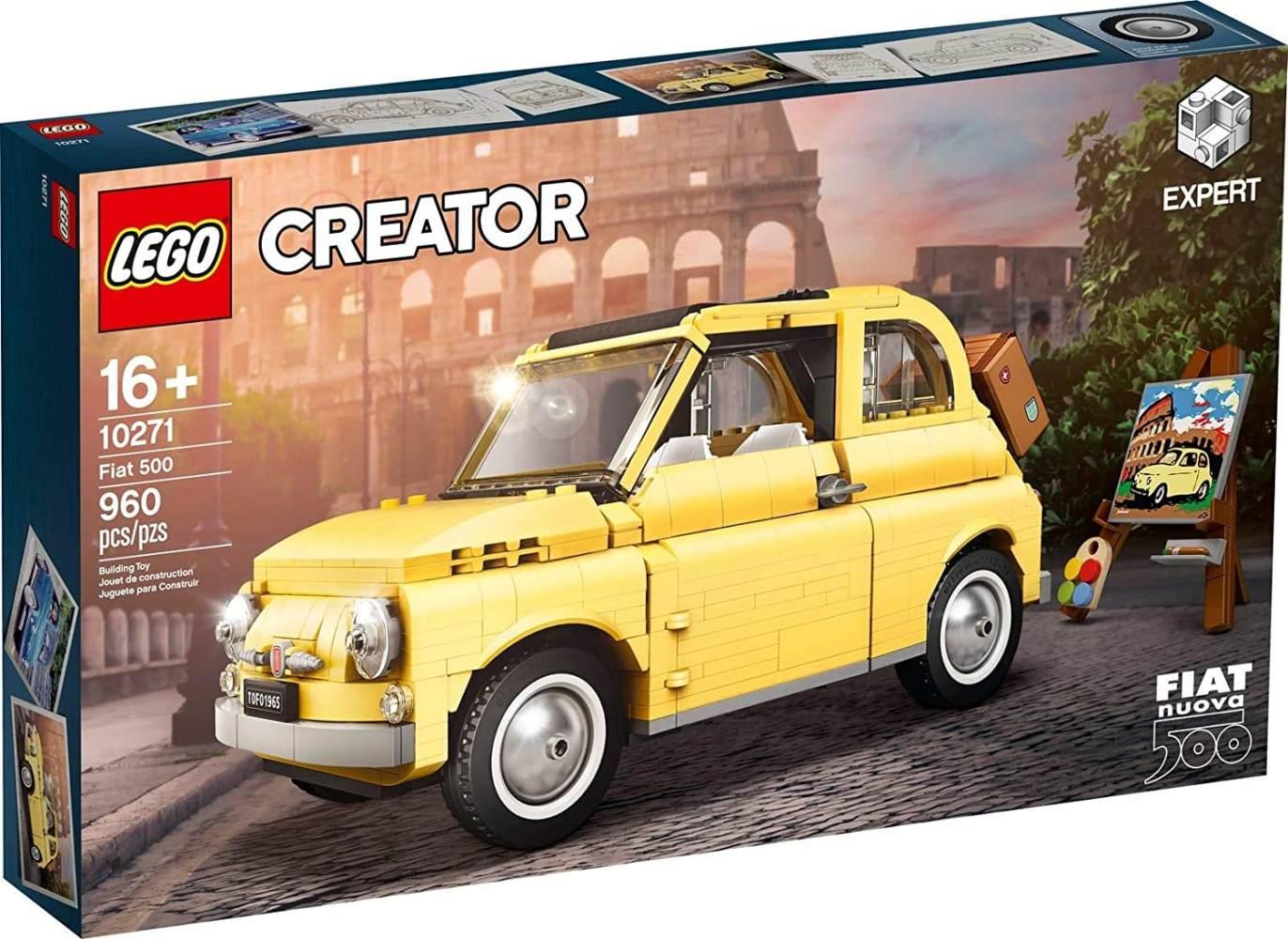 LEGO Creator Expert 10271 'Fiat 500', 960 Teile, ab 16 Jahren, originalgetreuer Modellbausatz mit zahlreichen Details Bild 1