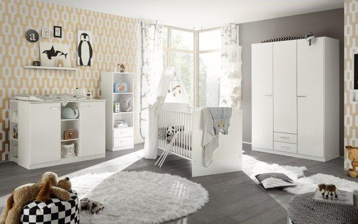 Babyzimmer Ella in Weiß 4 teiliges Megaset Bild 1
