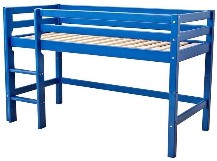 Hoppekids 'Basic' Halbhochbett blau, 70x160 cm Bild 1
