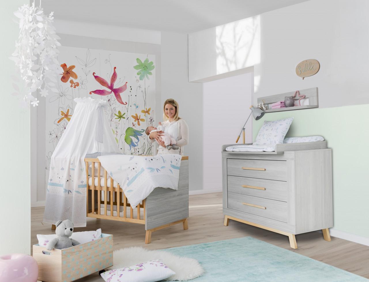 Schardt 'Miami Grey' 2-tlg. Babyzimmer-Set, grau Bild 1