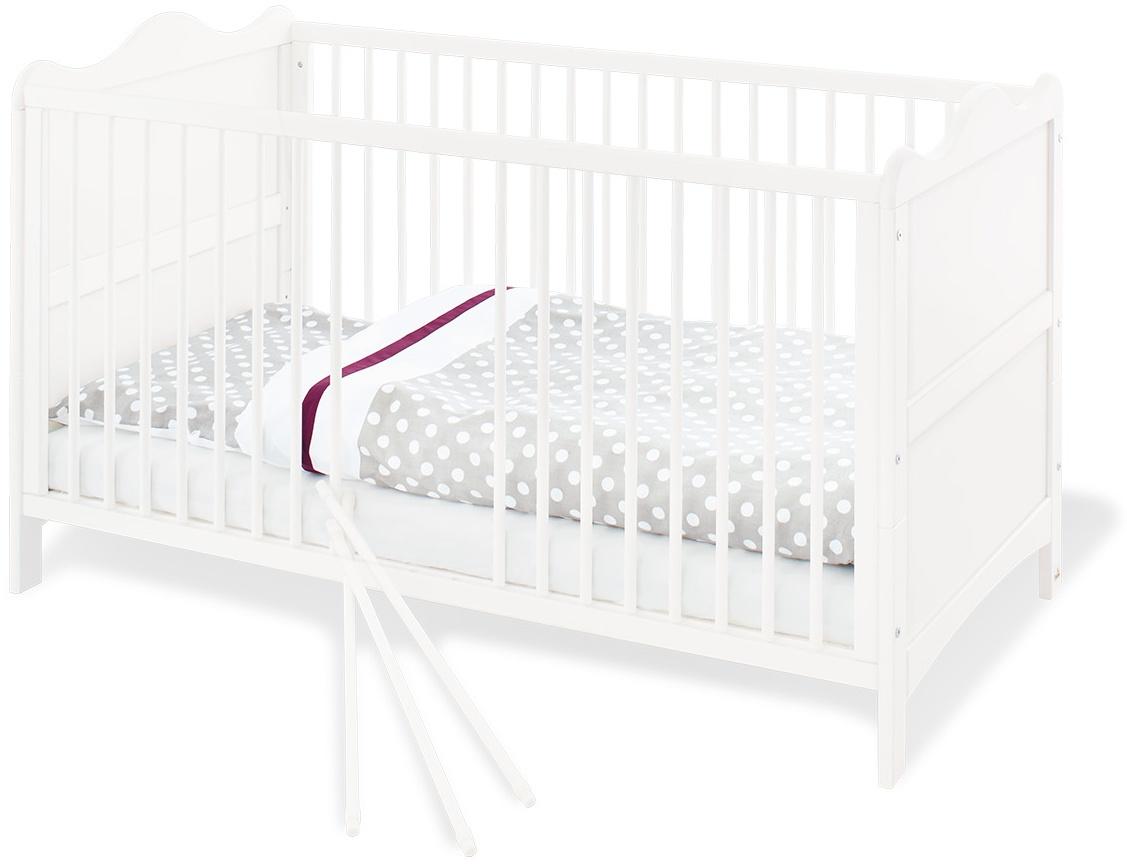 Pinolino 'Florentina' Kombi-Kinderbett weiß, 70 x 140 cm, höhenverstellbares Lattenrost Bild 1