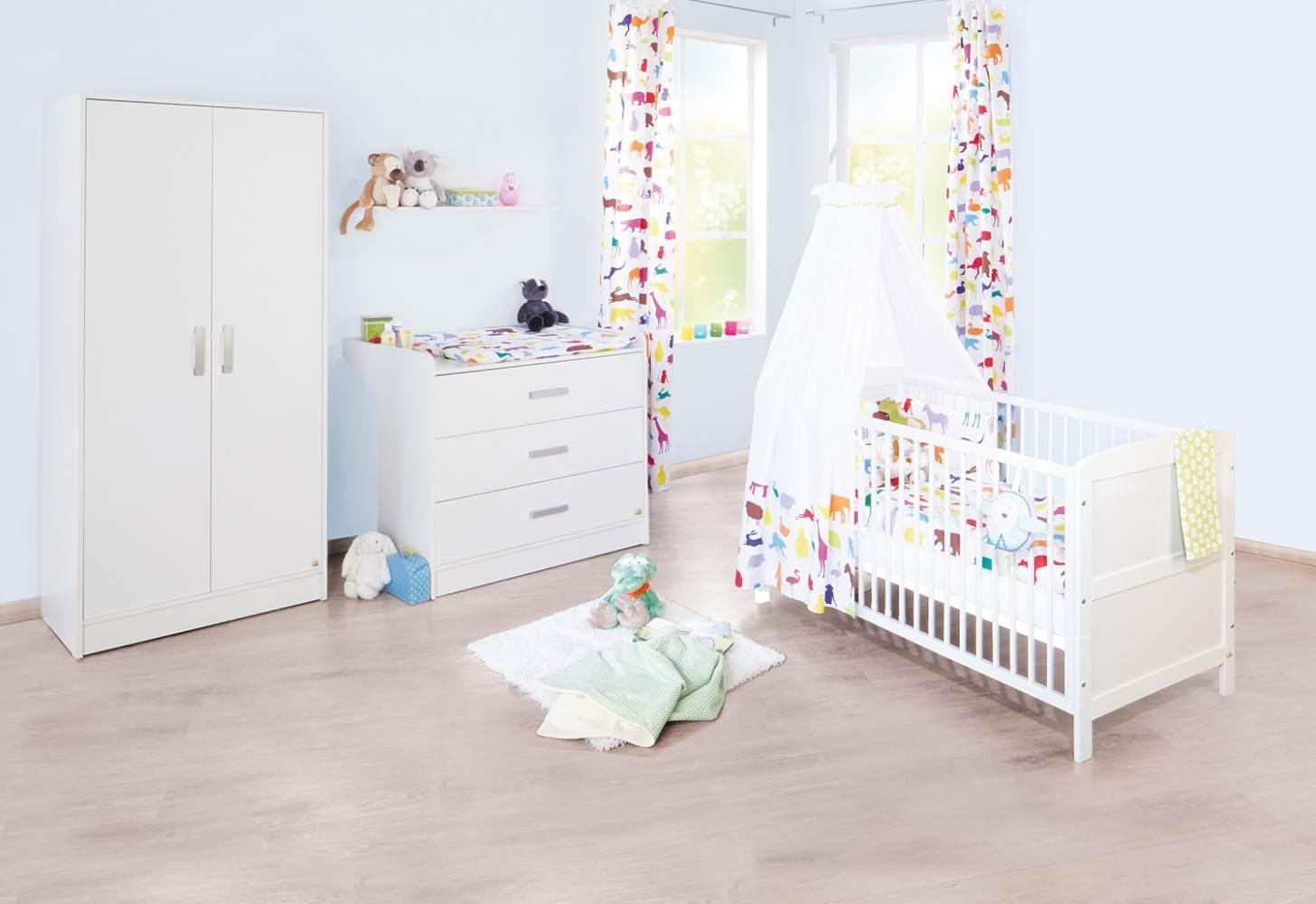 Pinolino 'Viktoria' 3-tlg. Babyzimmer-Set weiß, breit Bild 1
