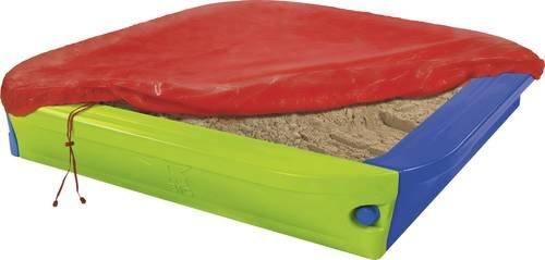 Big 'Sandpit + Cover' Sandkasten, 152 x 152 x 24 cm, ab 1,5 Jahren, ca. 200 kg Fassungsvermögen, inkl. Abdeckplane Bild 1
