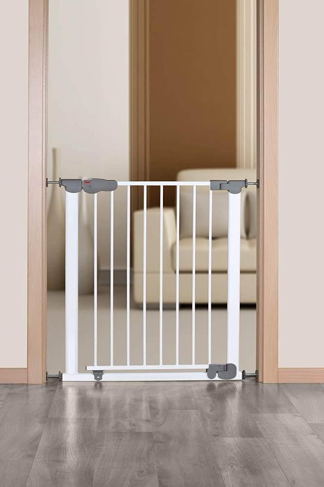 reer 'I GATE' Tür- und Treppengitter, für Türbreiten 77,5-83,5cm, Klemmbefestigung, Metall, Weiß Bild 1