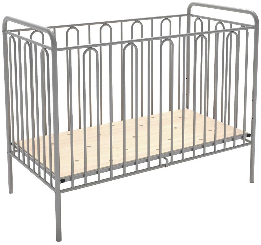 Babybett Gitterbett Kinderbett aus Metall Polini Vintage 110 silber Bild 1
