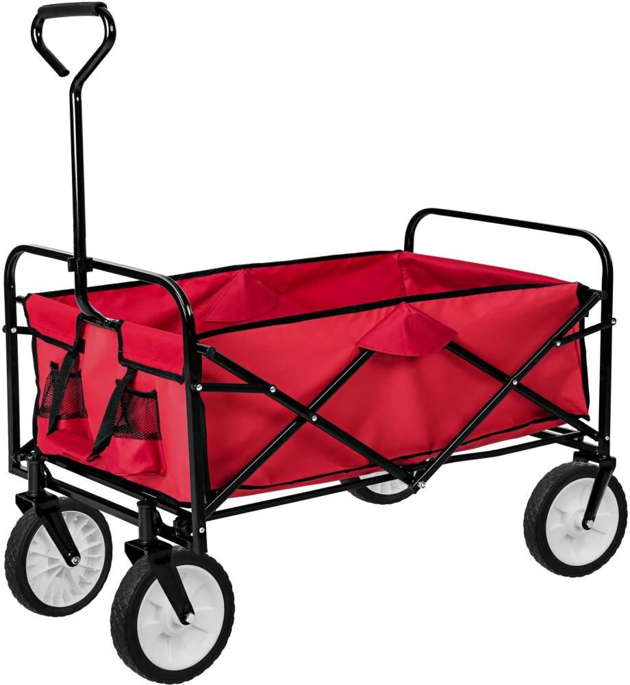tectake Faltbarer Bollerwagen Rot Bild 1