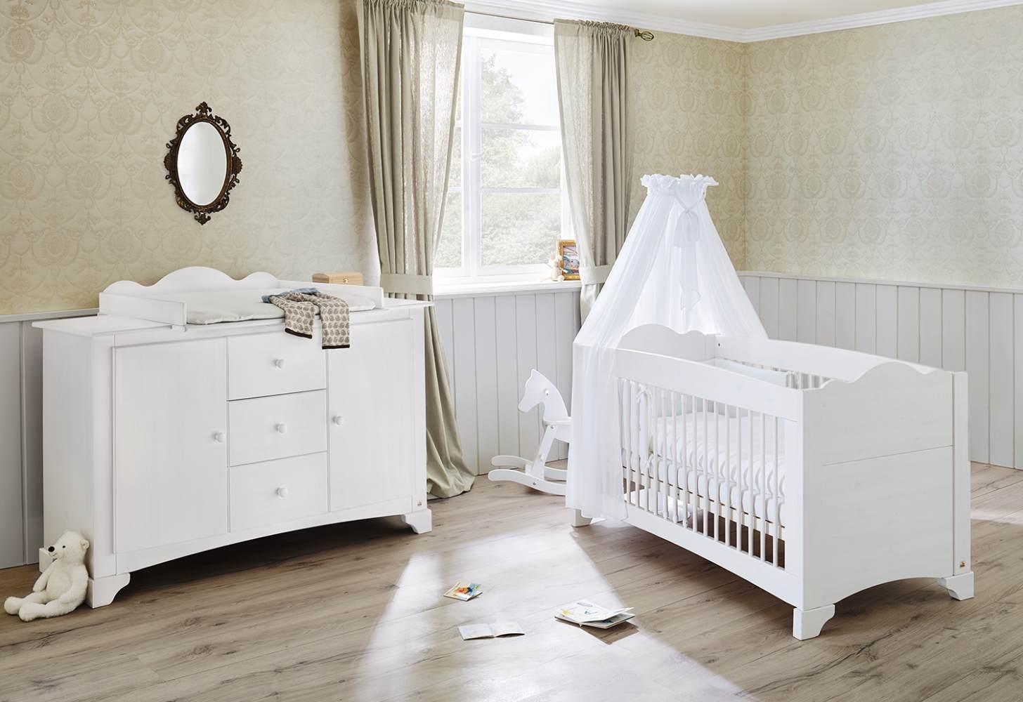 Pinolino 'Pino' 2-tlg. Babyzimmer-Set weiß, extrabreit Bild 1