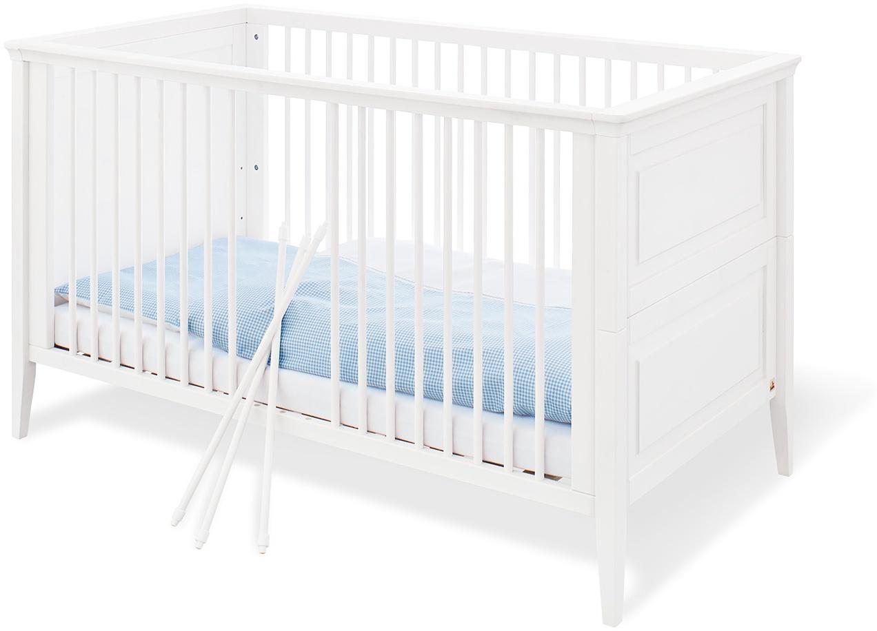 Pinolino 'Smilla' Kombi-Kinderbett 70x140 cm, weiß, 3-fach höhenverstellbar, Schlupfsprossen Bild 1