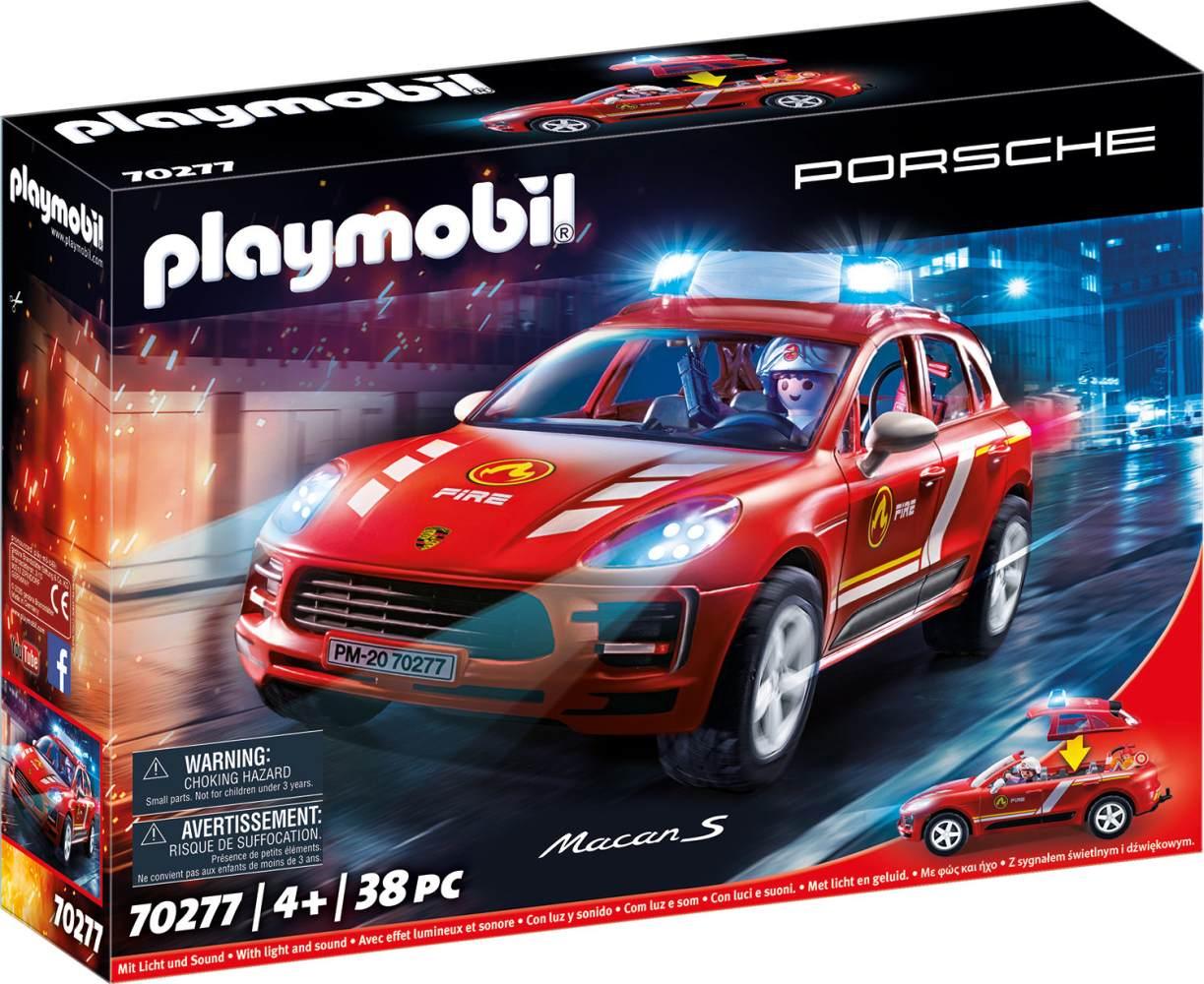 Playmobil Porsche 70277 Porsche Macan S Feuerwehr mit Licht- und Soundeffekten, Ab 4 Jahren Bild 1