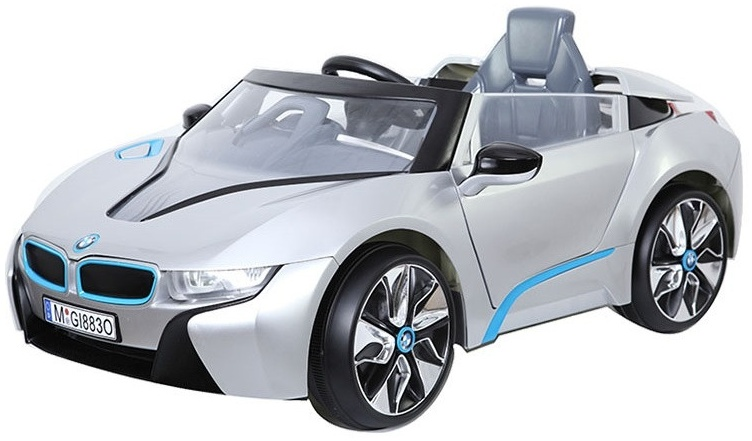 i8 Batterie Fahrzeug 12V Auto silber Bild 1
