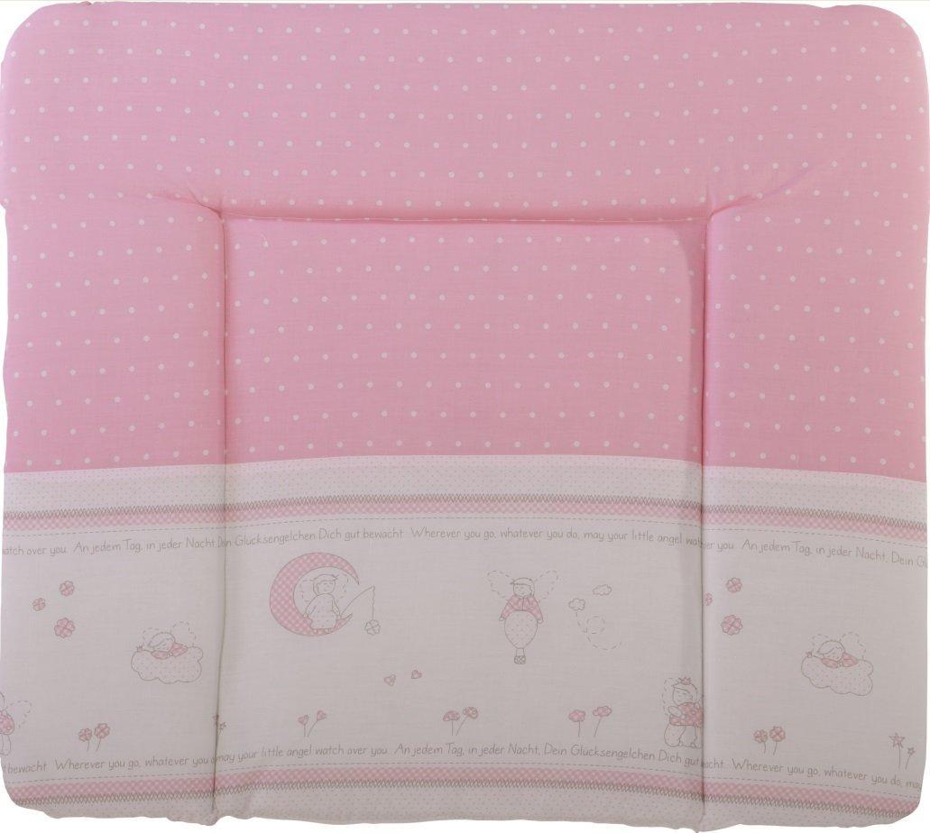 Roba 'Glücksengel' Wickelauflage 75 x 85 cm rosa/weiß Bild 1