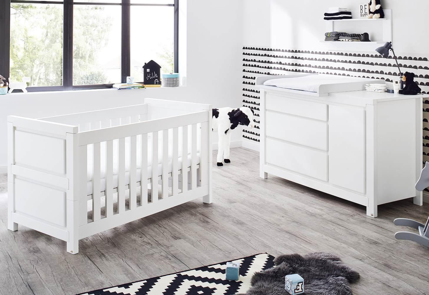 Pinolino 'Milk' 2-tlg. Babyzimmer-Set weiß, breit Bild 1