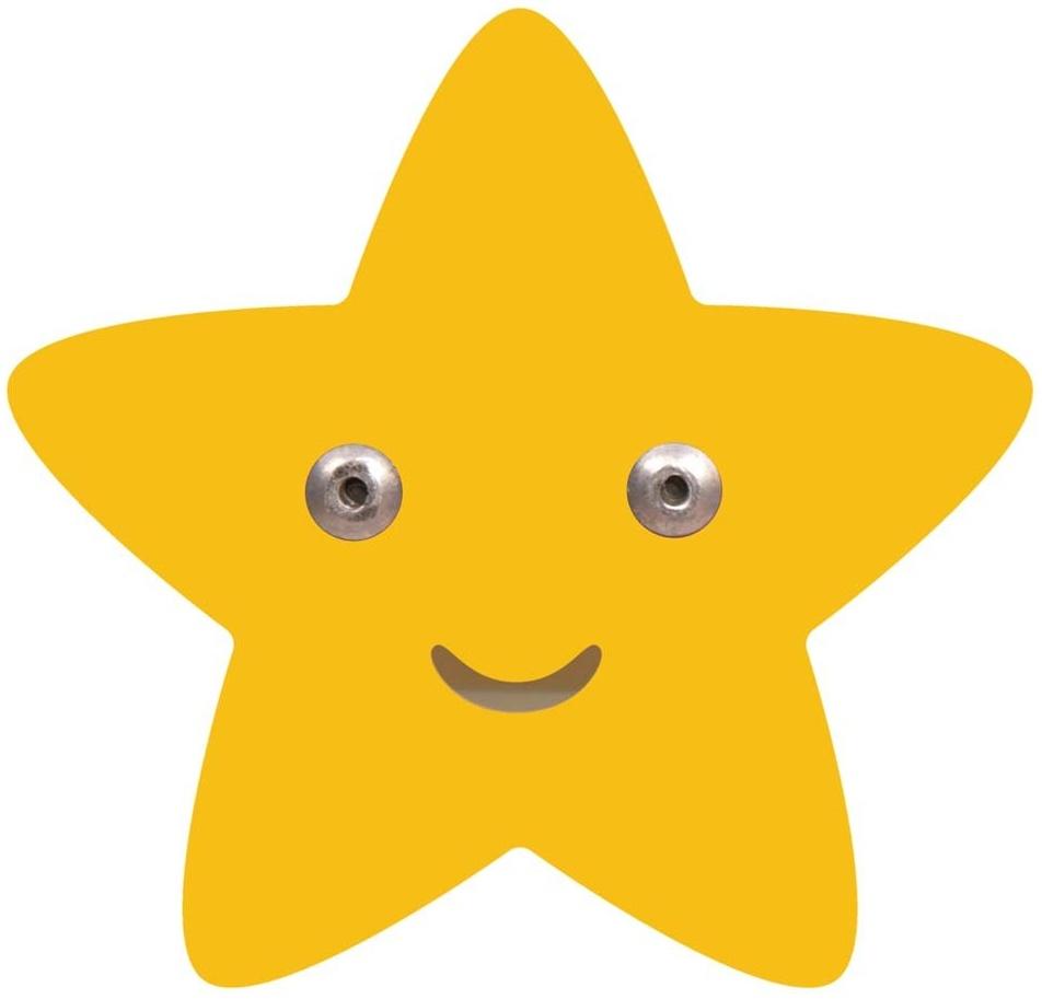 Roommate 'Stern' Kleiderhaken gelb Bild 1