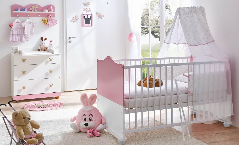 Ticaa 'Prinzessin' 3-tlg. Babyzimmer-Set Rosa-Weiß Bild 1