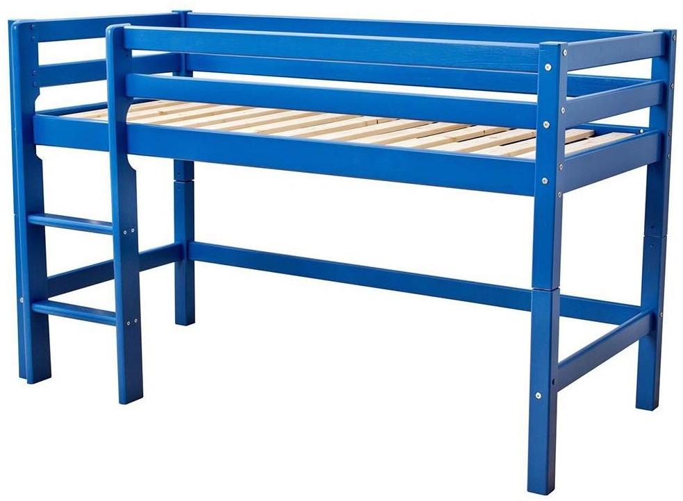 Hoppekids 'Basic' Halbhochbett blau, 90x200 cm Bild 1