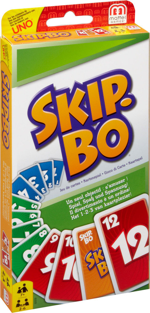 Mattel Skip-BO Kinder Kartenspiel Gesellschaftsspiel Familie Kinderspiel Spiel Bild 1
