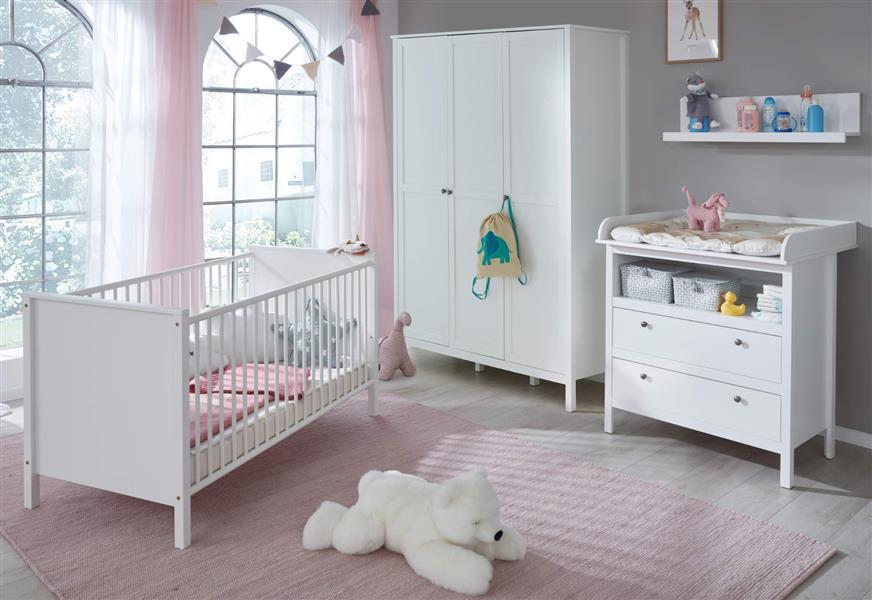 Trendteam 'Ole' 4-tlg. Babyzimmer Komplett Set weiß Bild 1
