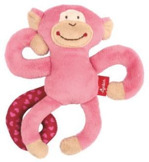 sigikid, Mädchen, Aktiv-Anhänger mit Rassel, Affe, Pink, 42168 Bild 1
