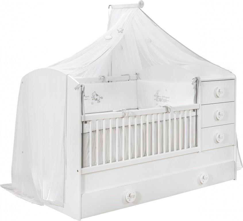 Cilek 'BABY COTTON XL' Babybett weiß mit Zubehör Bild 1