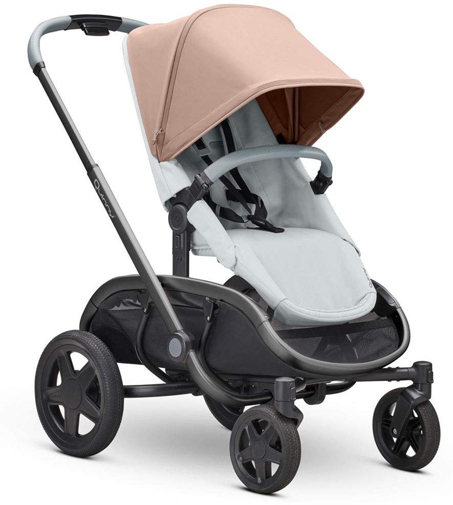 Quinny Hubb Mono XXL Shopping-Kinderwagen, großer Einkaufskorb, einfach klappbarer Kinderwagen, nutzbar ab ca. 6 Monate bis ca. 3,5 Jahre, Cork on Grey Bild 1
