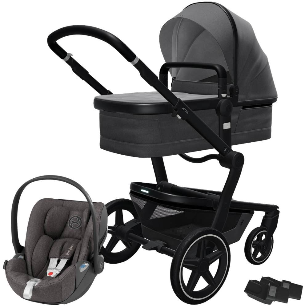 Joolz 'Day+' Kombikinderwagen Awesome Anthracite inkl. Cybex Cloud Z Plus Babyschale Soho Grey Bild 1