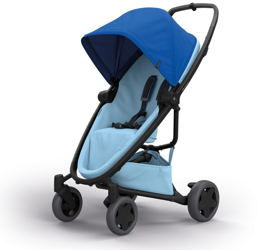 Quinny 'Zapp Flex Plus' Buggy, Blue On Sky/Blush on Grey Bild 1