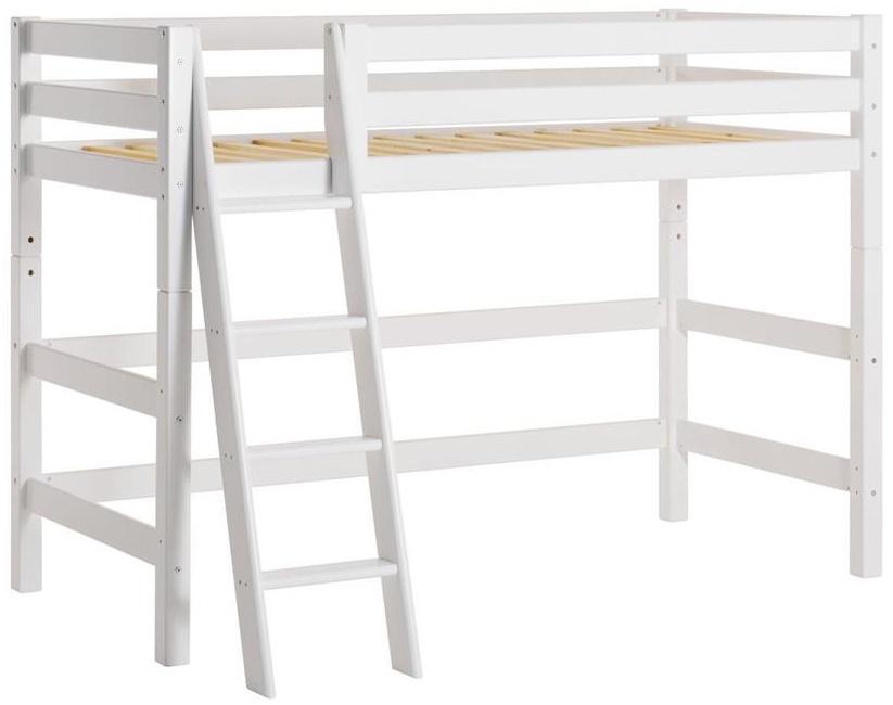 Hoppekids 'Premium' Hochbett 70x160 cm, weiß, inkl. Rollrost und Leiter, Kiefer massiv, umbaubar, nachhaltig Bild 1