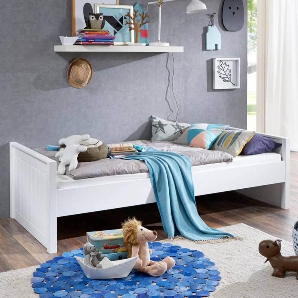 Relita Einzelbett HELSINKI-13 90x200 MDF weiß lackiert Bild 1