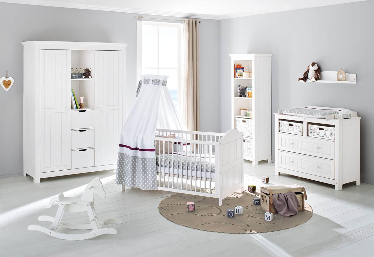 Pinolino 'Nina' 3-tlg. Babyzimmer-Set weiß Bild 1