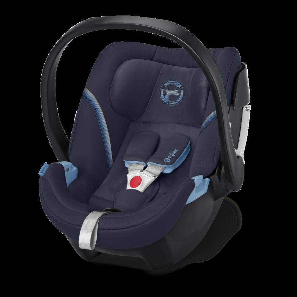 CYBEX 'Aton 5' Babyschale 2020 Navy Blue von 0 bis 13 kg (Gruppe 0+) Isofix Bild 1