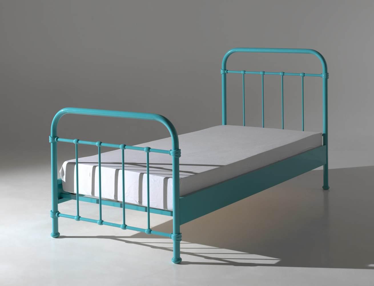 Vipack 'New York' Einzelbett türkis, 90x200 cm Bild 1