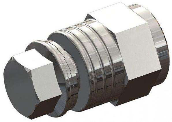 Croozer Unisex Jugend Achskupplungsadapter-3092019505 Achskupplungsadapter, grau, One Size Bild 1
