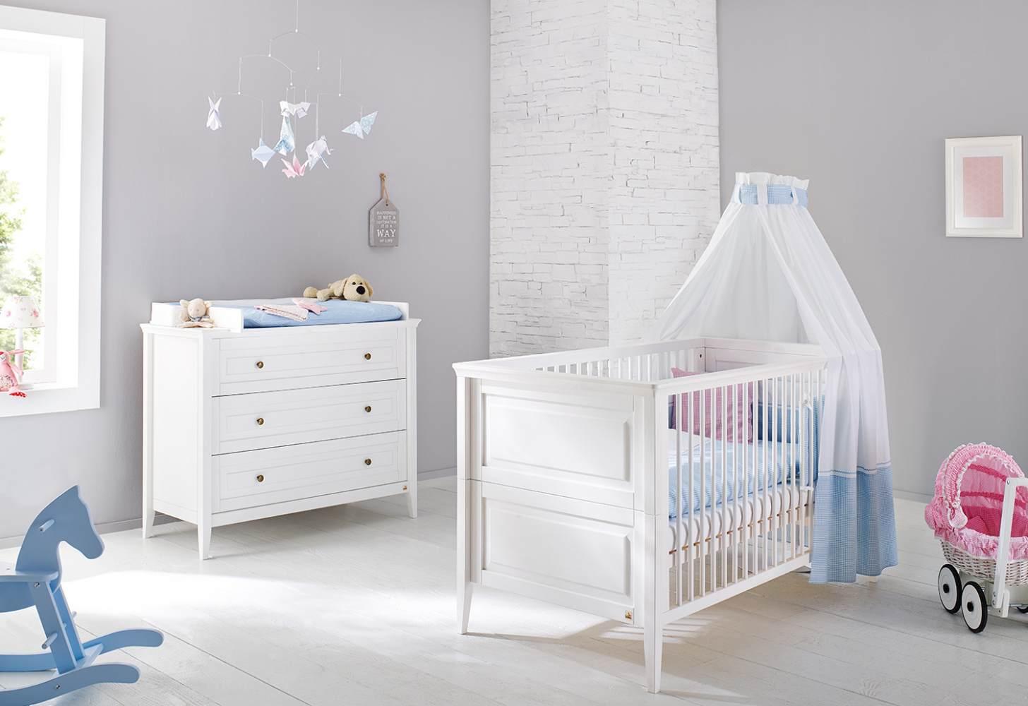 Pinolino 'Smilla' 2-tlg. Babyzimmer-Set weiß Bild 1