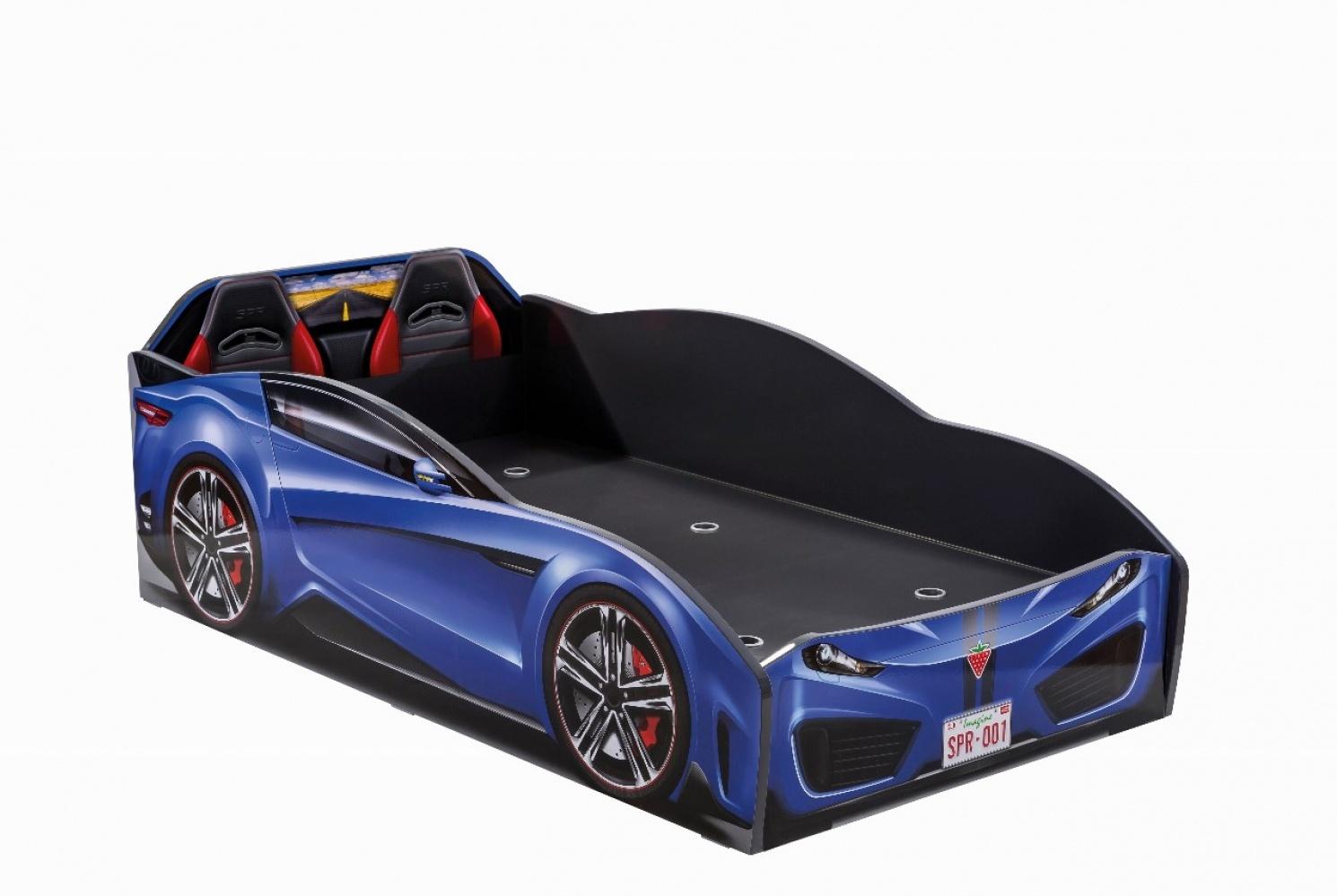 Cilek 'Spyder' Autobett blau 70x130 Bild 1