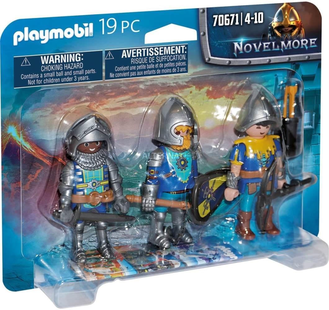 Playmobil Novelmore 70671 '3er Set Novelmore Ritter', 19 Teile, ab 4 Jahren Bild 1