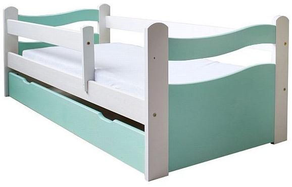 Kinderbettenwelt 'Abby' Kinderbett 80x160 cm, Mint, inkl. Lattenrost, Matratze und Schublade Bild 1