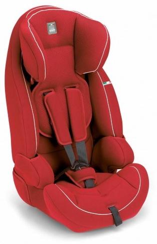 CAM 'Le Mans' Kindersitz Gruppe 9-36 kg Rot / Weiße Nähte Bild 1