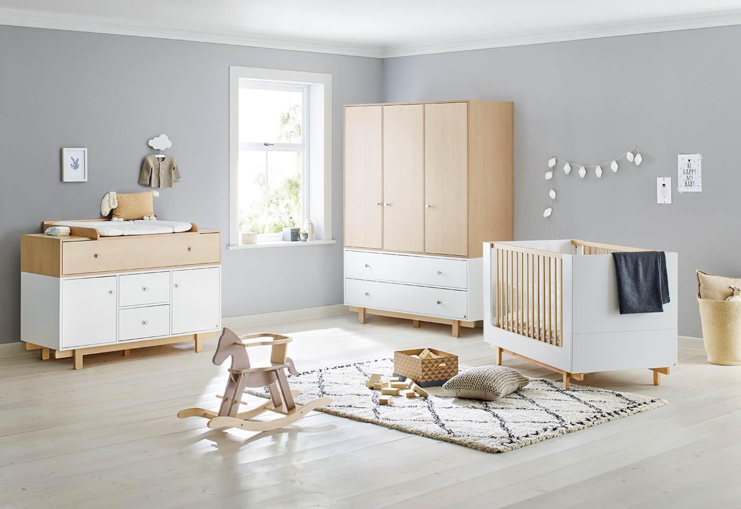 Pinolino 'Boks' 3-tlg. Kinderzimmer-Set extrabreit, groß Bild 1