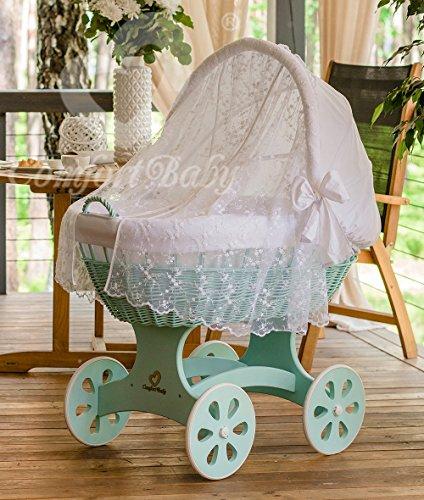 ComfortBaby 'Home XXL' Stubenwagen mint inkl. Ausstattung und Moskitonetz weiß Bild 1