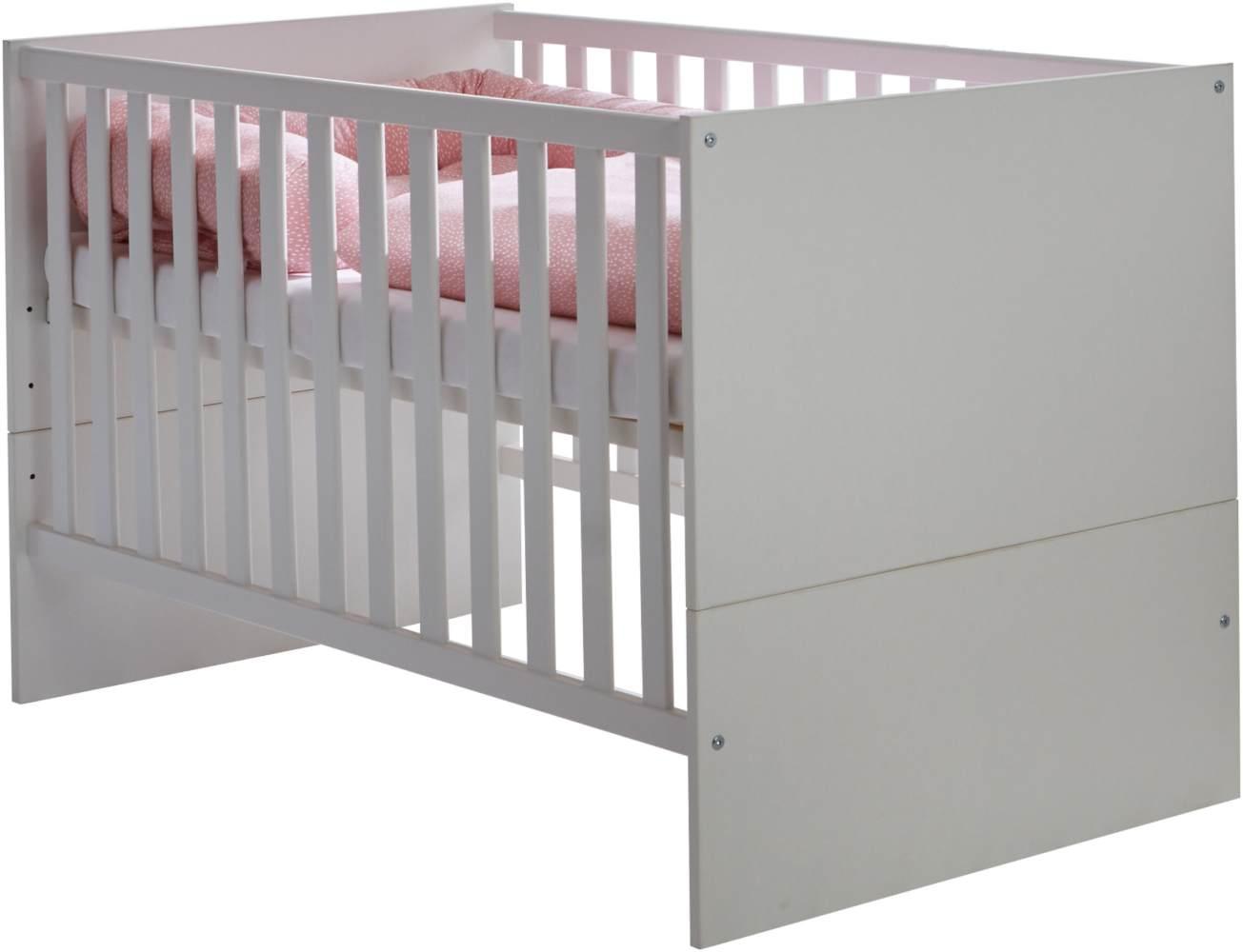 Arthur Berndt 'Amal' Kinderbett 70 x 140 cm inkl. Lattenrost 4-fach höhenverstellbar Kreideweiß Bild 1
