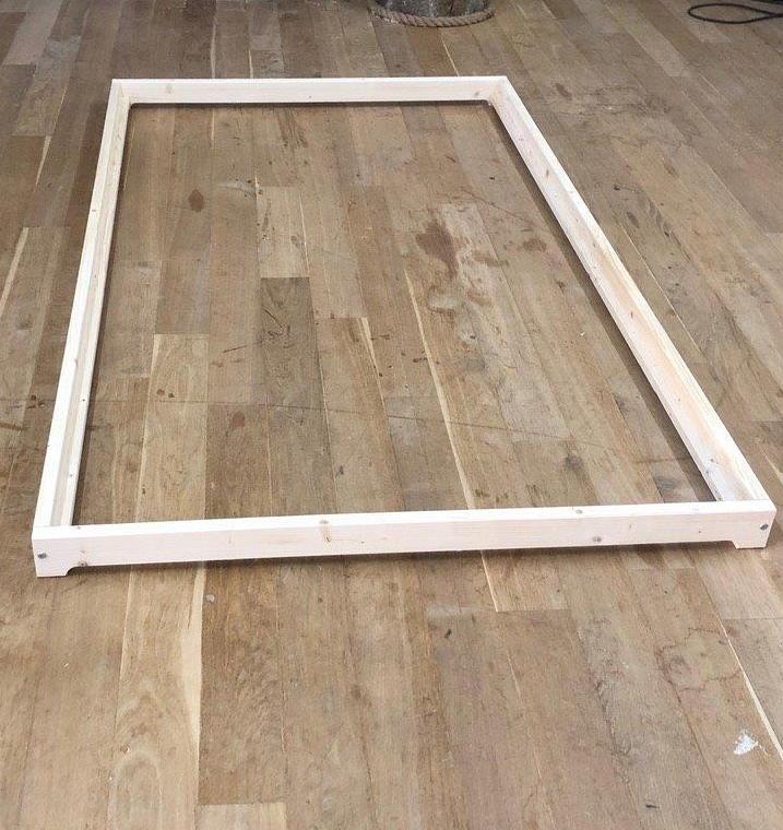 Erst-Holz Niederflurbett aus geölter Fichte 80x200 cm, natur Bild 1